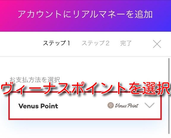 21.COM venuspoint deposit2