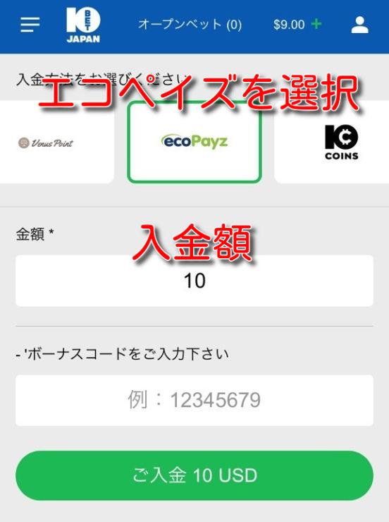 10bet ecopayz deposit3