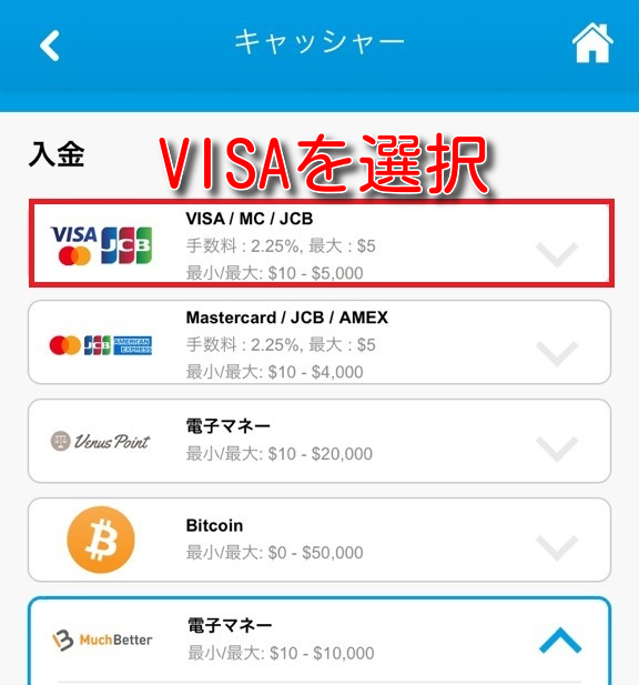 verajohn visa linepay prepaidcard2